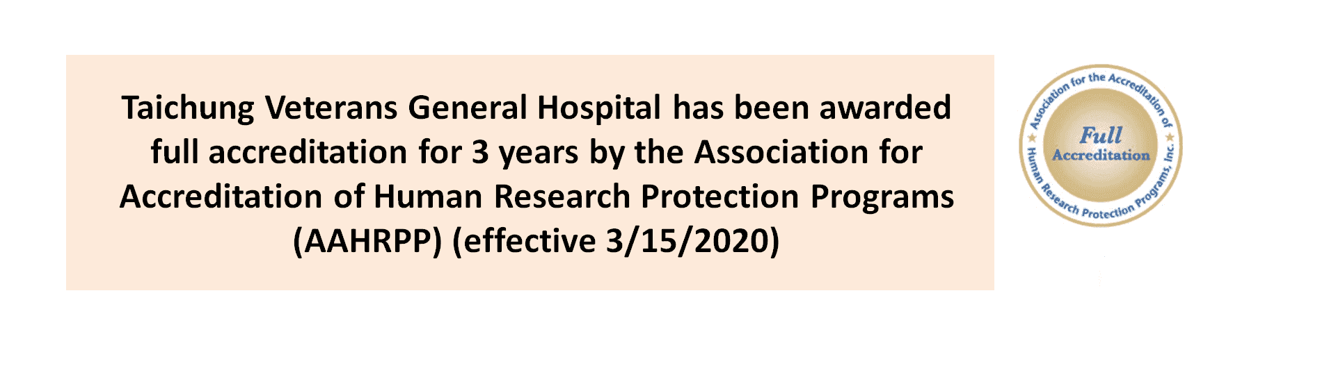 Awarded full accreditation by the AAHRPP